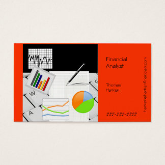 Financial Analyst Business Card