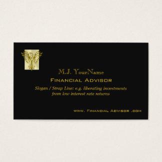 Financial Avisor luxury gold on black Phoenix Business Card