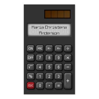 Financial Calculator Business Card (Black)