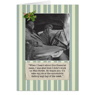 Financial Crisis Christmas Card w/ Auto Worker