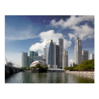 Financial district of Singapore Postcard
