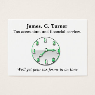 Financial services business card