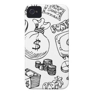 Financial Symbol Doodle Set iPhone 4 Cover
