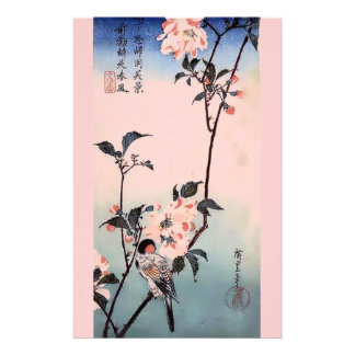 Finch Cherry Blossom Japanese Print Stationery