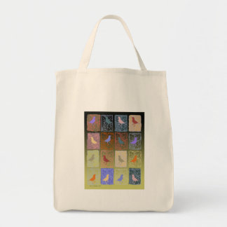 finches with molded paper tote bag