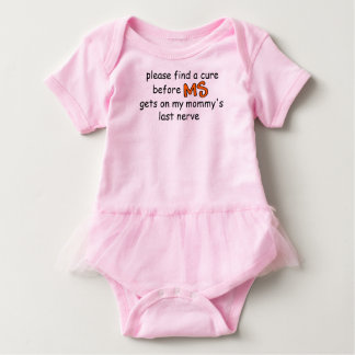 Find A Cure Before MS Gets On Mommy's Last Nerve Baby Bodysuit
