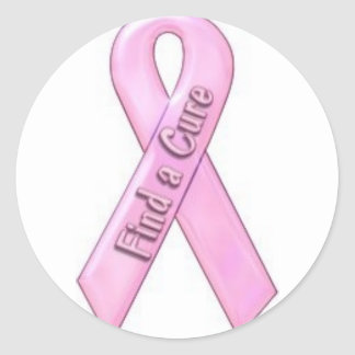Find a cure for breast cancer classic round sticker