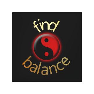 FIND BALANCE CANVAS PRINT