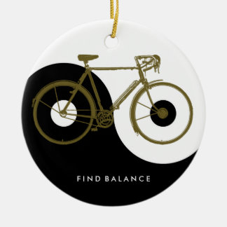 FIND BALANCE / yin yang bicycle Ceramic Ornament