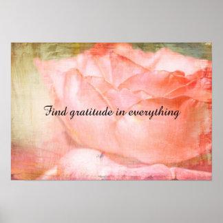 Find Gratitude Poster