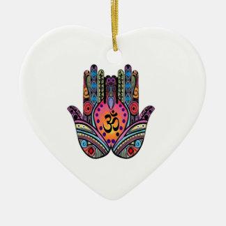 FIND INNER PEACE CERAMIC HEART ORNAMENT