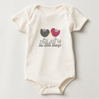 Find Joy In The Little Things Cute Birds Adorable Baby Bodysuit