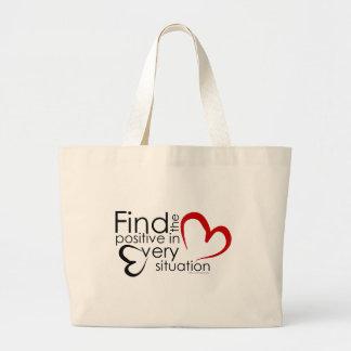 Find Positivity Large Tote Bag