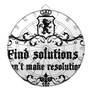 Find Solutions Donn't make Resolutions Dartboard