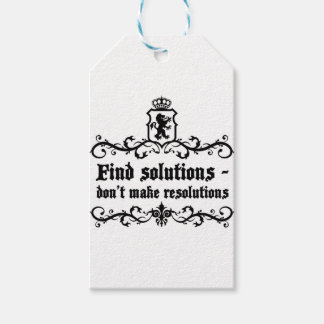 Find Solutions Donn't make Resolutions Pack Of Gift Tags