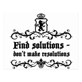 Find Solutions Donn't make Resolutions Postcard