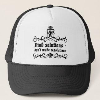 Find Solutions Donn't make Resolutions Trucker Hat