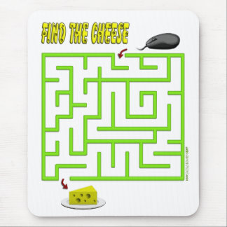 Find the Cheese Mouse Maze Standard Mouse Pad