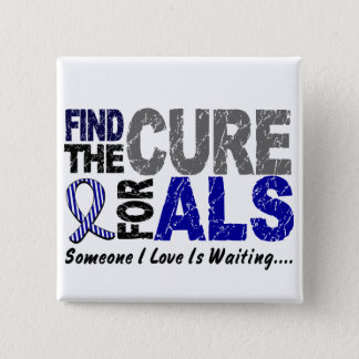 Find The Cure 1 ALS T-Shirts & Gifts 2 Inch Square Button
