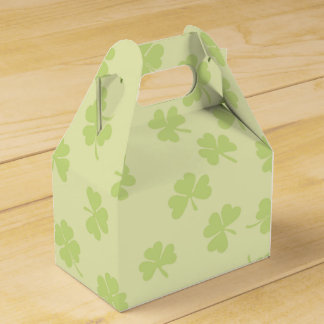 Find the Four Leaf Clovers Shamrock St Patrick Day Wedding Favor Box