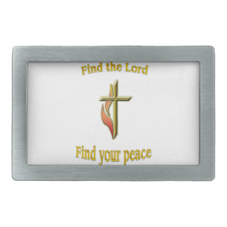 Find the Lord find your peace Belt Buckles