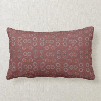Find the Rabbit, rustic pattern, gray & terracotta Lumbar Pillow