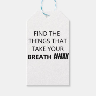find the things that take your breat away pack of gift tags