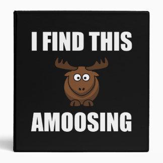Find This Amoosing Moose 3 Ring Binders