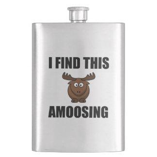 Find This Amoosing Moose Hip Flask