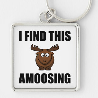 Find This Amoosing Moose Keychain