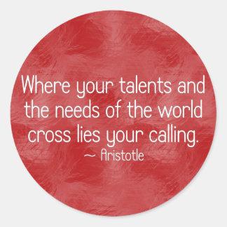 Find your calling (2) round sticker