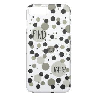Find Your Happy Gold Black Confetti iPhone 7 Plus Case