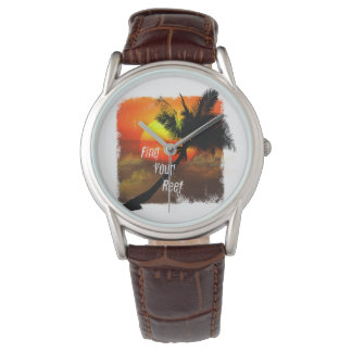 Find Your Reef Mens Palm and Sunset watch