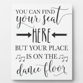 Find Your Seat Here Wedding Sign Plaque 8x10