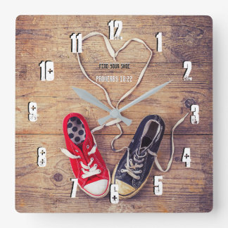 Find your shoe square wall clock