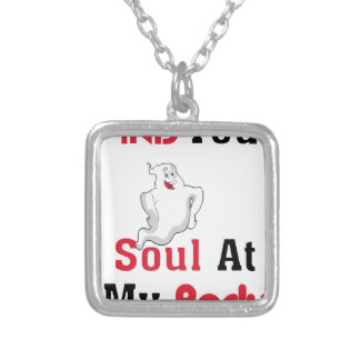 Find Your Soul at My Body Silver Plated Necklace