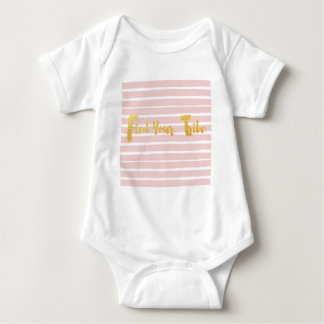 find-your-tribe-pink-stripe baby bodysuit