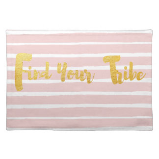 find-your-tribe-pink-stripe placemat