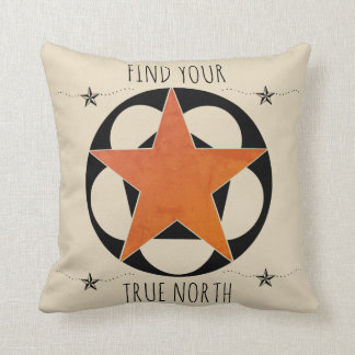 Find Your True North Star Throw Pillow
