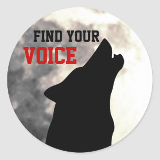 find your voice stickers