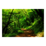 Find Yourself Go Run Magic Forest Motivational Poster