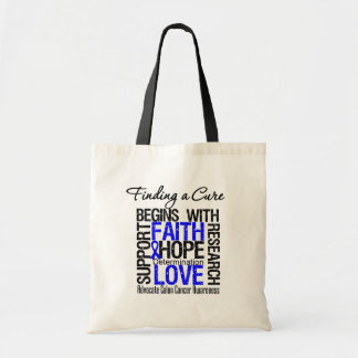 Finding a Cure For Colon Cancer Budget Tote Bag