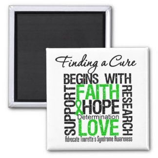 Finding a Cure For Tourette's Syndrome Refrigerator Magnets