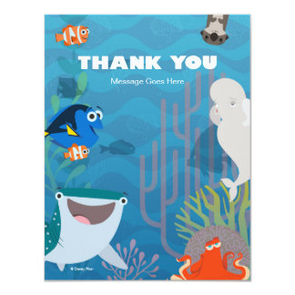 "Finding Dory Birthday Thank You 4.25"" X 5.5"" Invitation Card"