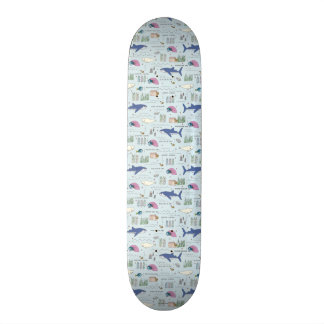 Finding Dory Blue Cartoon Pattern Skateboard Deck