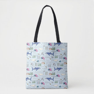 Finding Dory Blue Cartoon Pattern Tote Bag