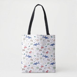 Finding Dory Cartoon White Pattern Tote Bag