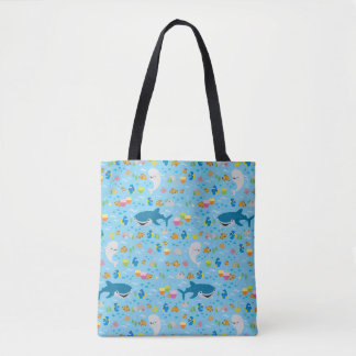 Finding Dory Colorful Pattern Tote Bag