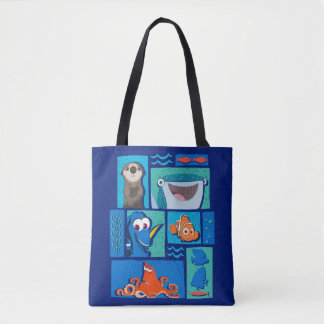Finding Dory   Group of Characters Tote Bag
