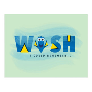 Finding Dory| I Wish I Could Remember Postcard
